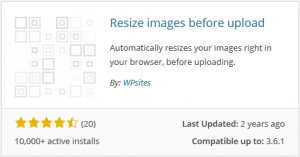 Resize images before upload